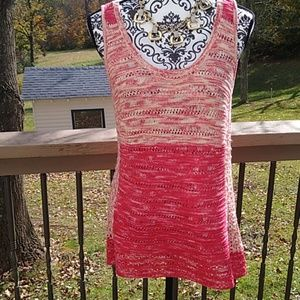 INC long knitted tank top